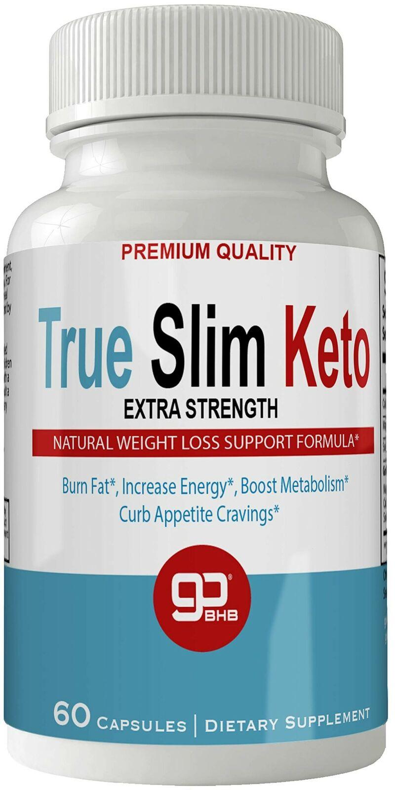 TrueSlim Keto Weight Loss Pills, Extreme Natural Ketogenic Burn Fat Supplemen... 1