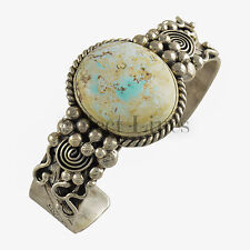 Mary Ann Spencer Sterling Silver Dry Creek Turquoise Cuff Bracelet Navajo