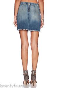 Skirt 24 Sz Super Loved In The Current Denim Nwt Elliott Mini 160 Jeans Boxy wO47n0zq