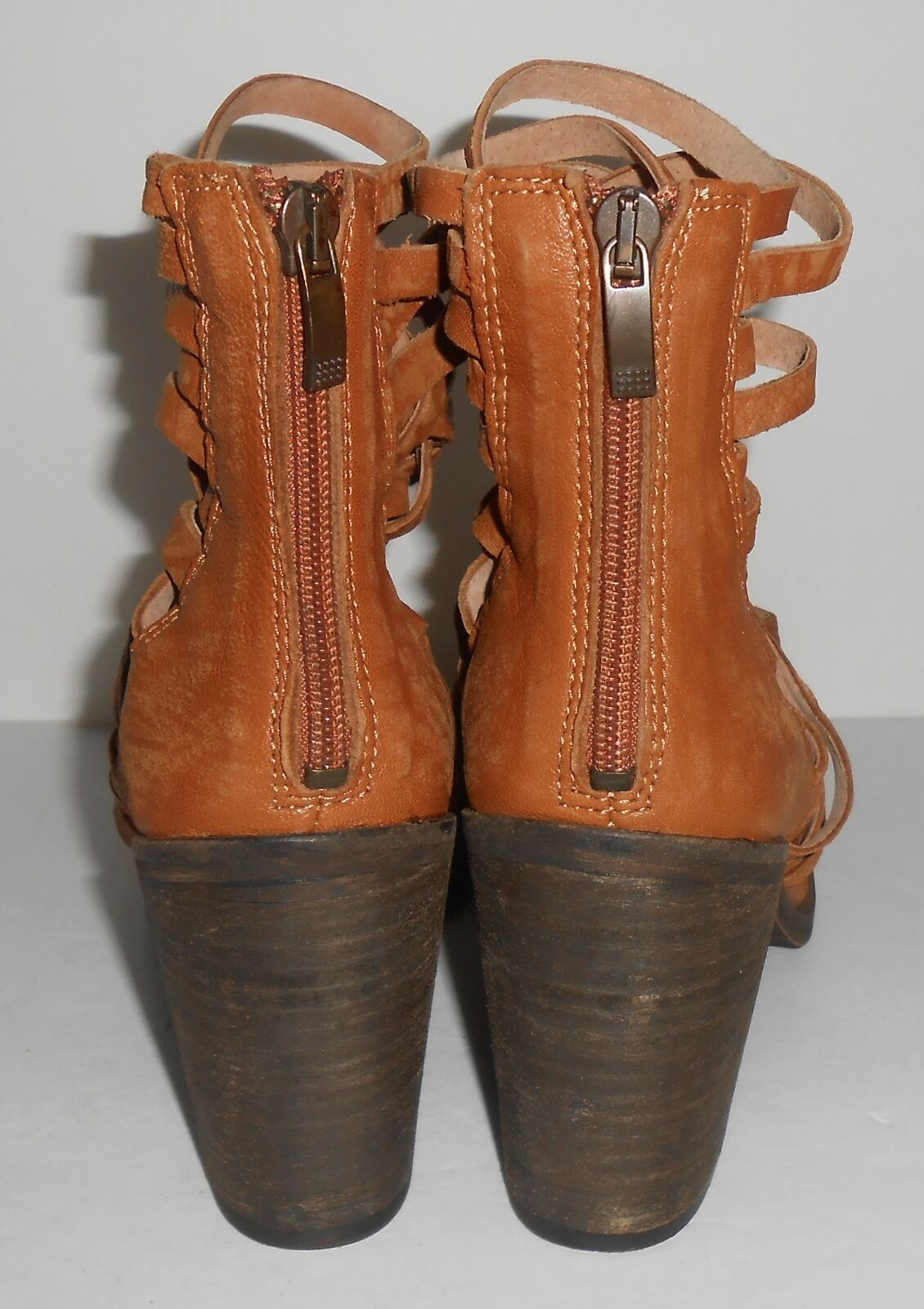 Free People Sz Carrera Heel Boot Braun Sz People 37 e7a025