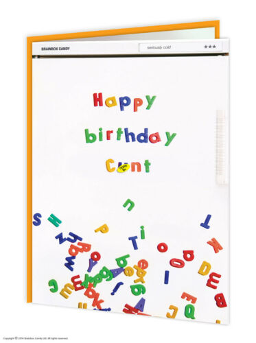 Brainbox Candy Rude birthday greetings card funny offensive humour cheeky joke