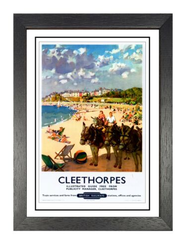 Cleethorpes 3 Vintage Poster Beautiful Seaside Humber Picture Old Advert Holiday
