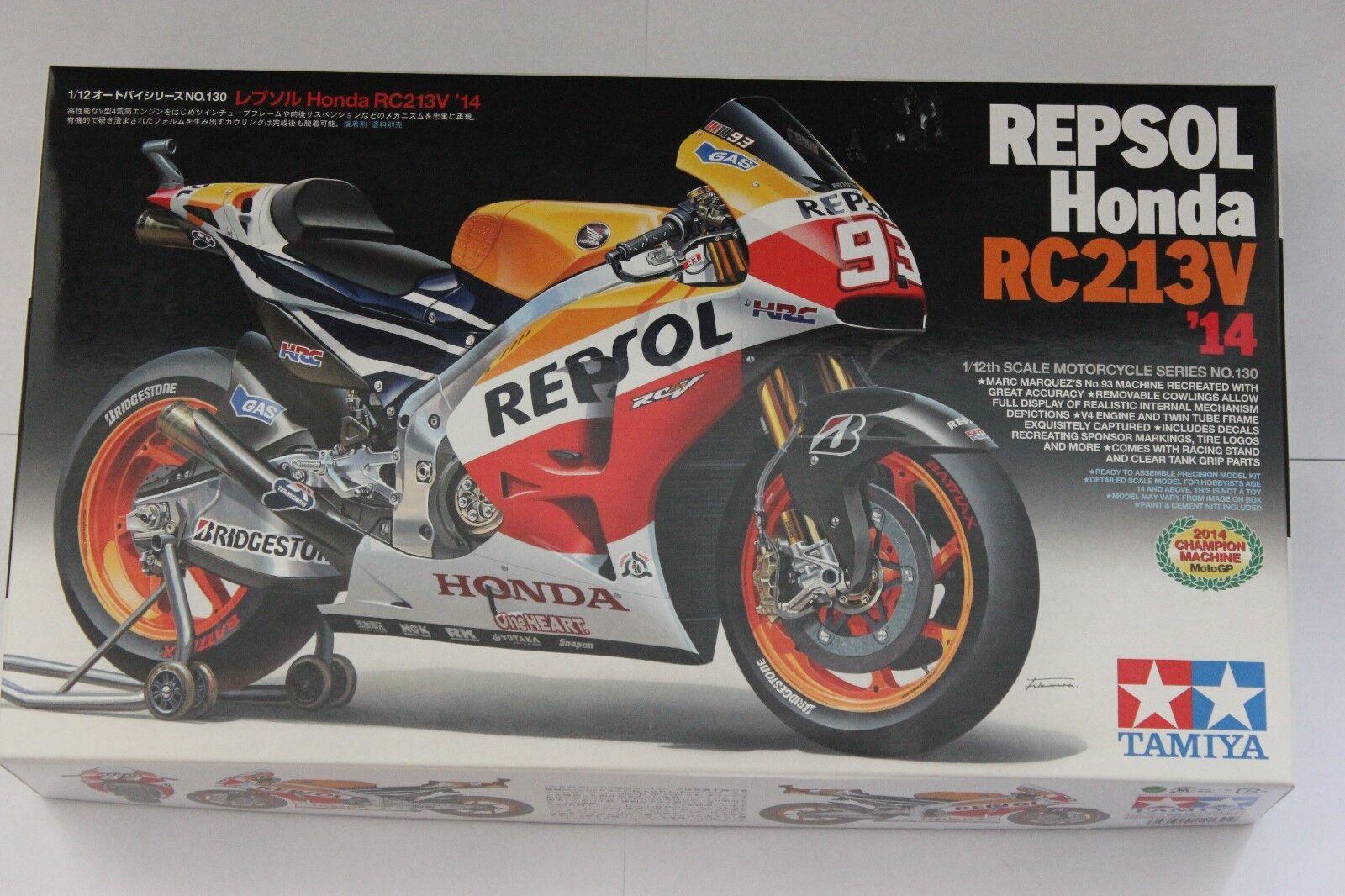 Tamiya 14130  Repsol Honda RC213v 2014  Marc Marquezs 1\12 Scale