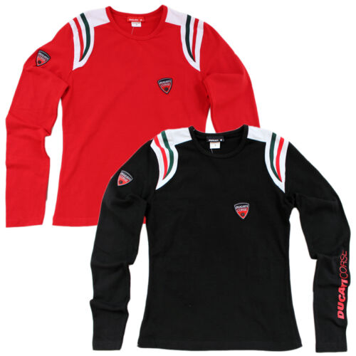 S-M-L-XL T-Shirt Ducati Corse D.C.08 Shirt Longsleeve Damen Langarm Gr