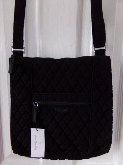 NWT NEW AUTHENTIC VERA BRADLEY HIPSTER CROSSBODY   BAG CLASSIC BLACK  89.00 11886eb5e556e