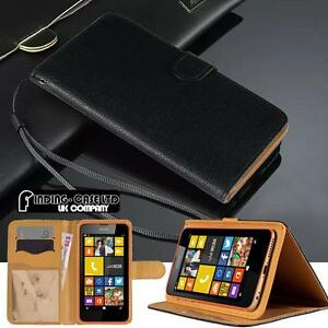 Black-Flip-Cover-Stand-Wallet-Leather-Case-For-Various-Nokia-Lumia-Mobile-Phones