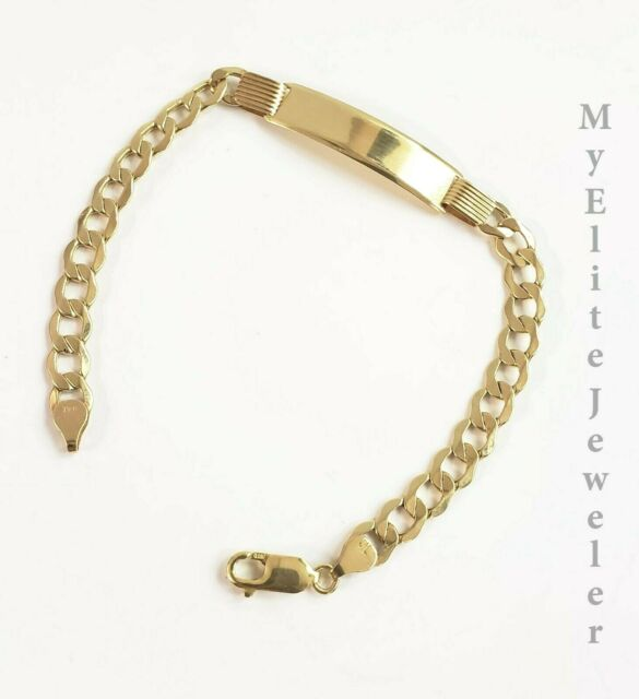 with Secure Lobster Lock Clasp Solid 925 Sterling Silver ch Engraveable Antiqued-Style Figaro Link ID Bracelet 6mm