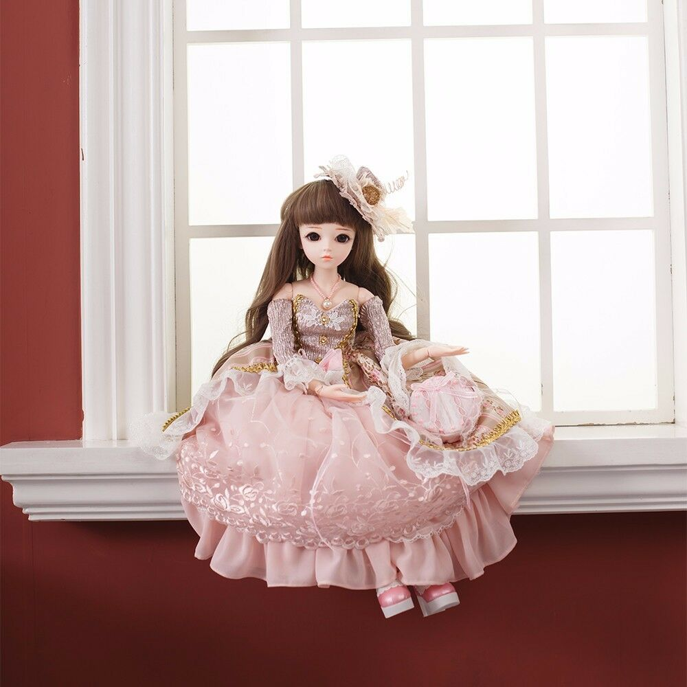 60cm Reborn BJD Doll 1 3 Handmade Clothes schuhe Wig Eyes Makeup Pretty Girl Doll