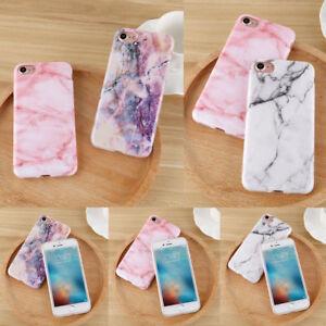 Schutz-Handy-Schale-Huelle-TPU-Marmor-Etui-Slim-Case-Tasche-Fuer-iPhone-X-8-7-6s