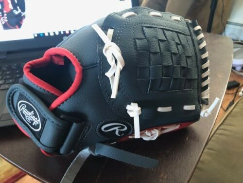 """Details about  /Rawlings Youth 11.5/"""" Baseball Glove PL115G Players Series Red Gray LH Thrower"""