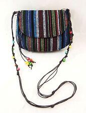 Bohemian & Ethnic Print Cross Body Bag / Lady's Cross Body Bag, Purse with Beads