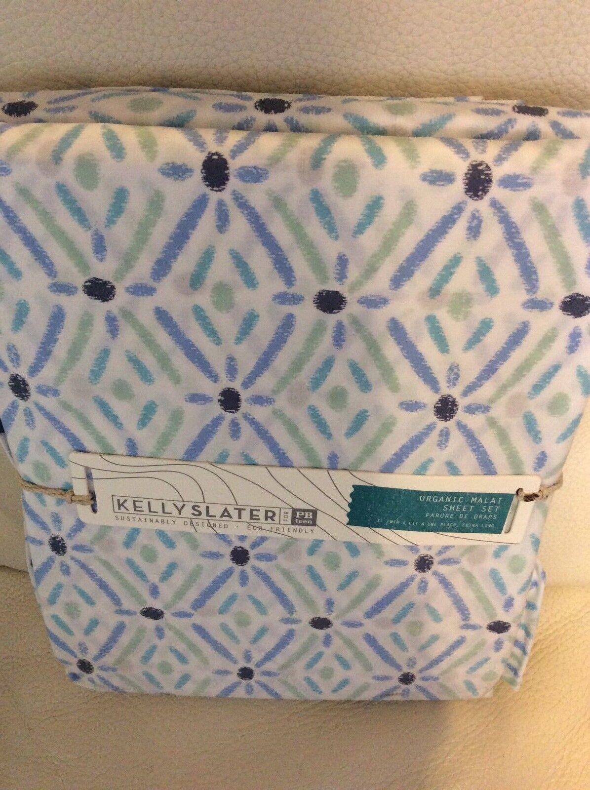 Pottery Barn Teen Kelly Slater Organic Malai XL Twin Twin Sheet Set  NWT