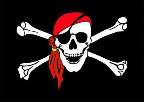 Bandiera Pirati cm 90 x 150 cm in tessuto