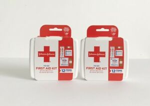Johnson & Johnson To Go First Aid Kit 2 Count (12 Items In Each Kit)