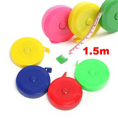 1Pc 1.5M 60 inch Sewing Retractable Ruler Tape Measure Cloth Dieting Tailor TN2F