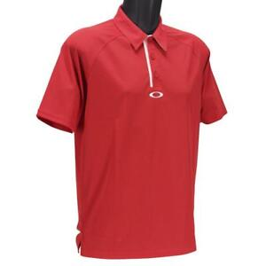 Oakley-Elemental-2-0-Polo-Mens-S-Small-Red-Line-Plain-Golf-Regular-Fit-Tee-Shirt