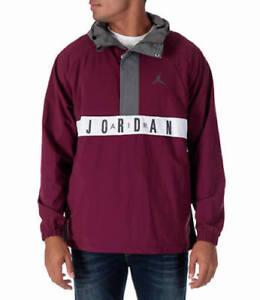 fb5887027576 Image is loading Nike-Jordan-Sportswear-Anorak-Wings-Wind-Jacket-Bordeaux-