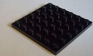 Lego-2-BLACK-6x6-plaques-3958-NEUF-Panneaux-De-Construction-Noir
