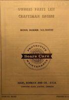 Sears Craftsman Engine 143.566062 Motor Tecumseh H60 Parts Manual 16pg Tractor 6