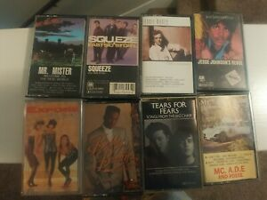 LOT OF 8 CASSETTE TAPES