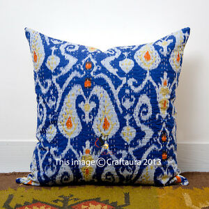 24X24 Extra Large Pillow Cover Vintage Kantha Decorative throw Pillow Cushions eBay