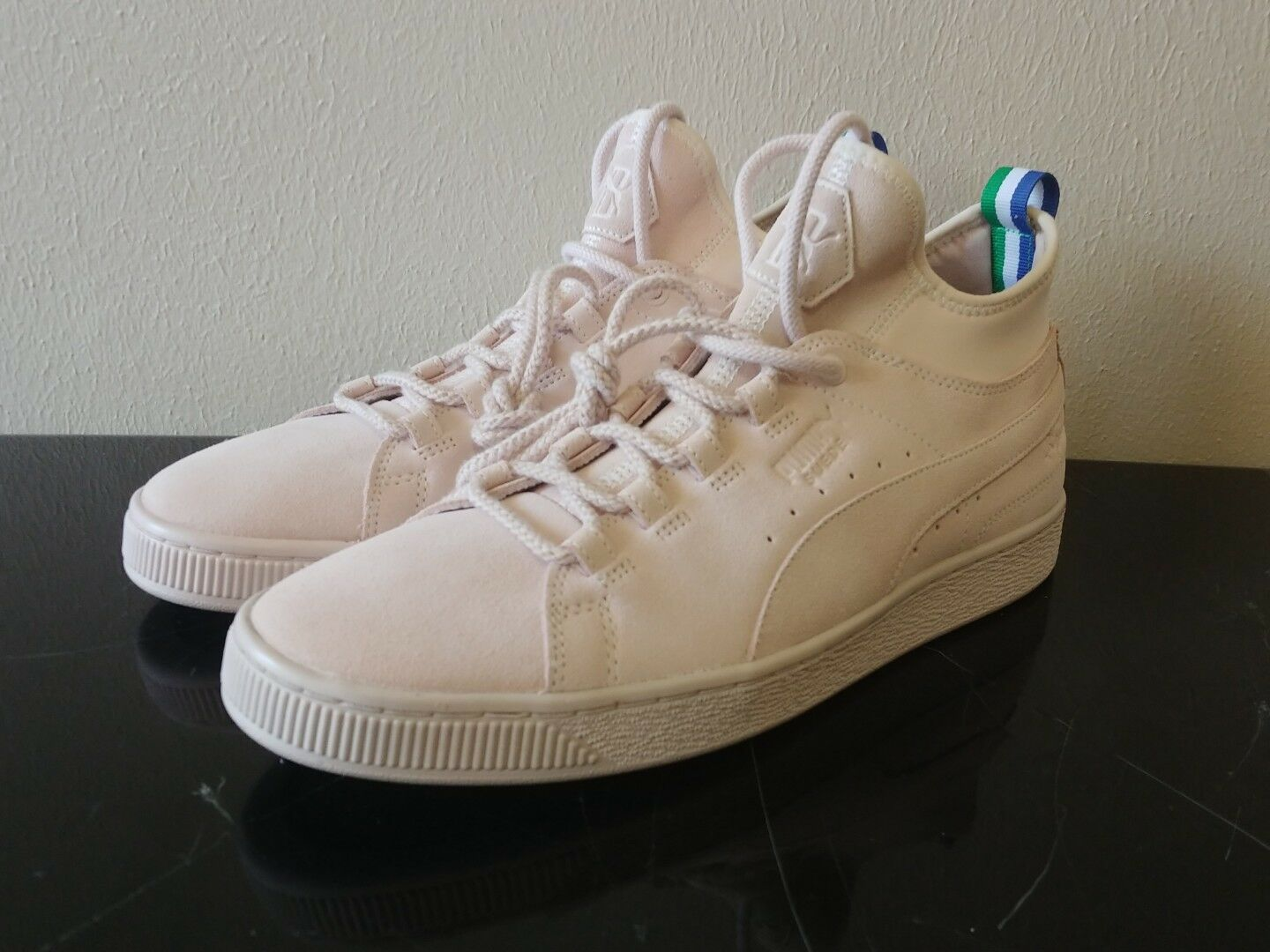 Puma Suede Mid X Big Sean Shell Pink New Men Shoes Limited Edition 366252-01