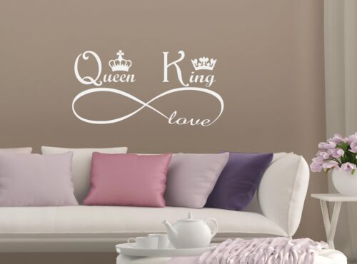 Personalised King And Queen Crowns Amore Infinity Vinyl Wall Sticker Decal Rooms