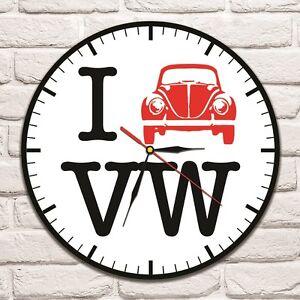 i love vw beetle design vinyl record wall clock home art shop office rh ebay co uk home art shop brisbane home art shop kz
