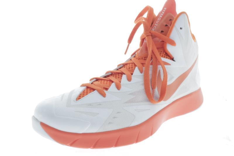 Mens Large Size  Nike HyperQUICKNESS Orange White Athletic Shoes 17 M..196A