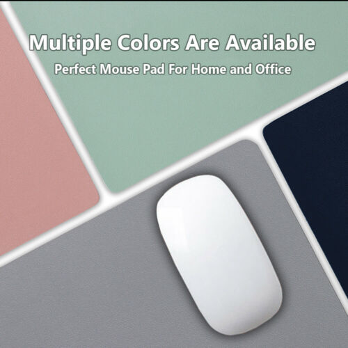 Large Leather Mouse Pad Office Laptop Table Mat Game Desk Cushion Double-sided