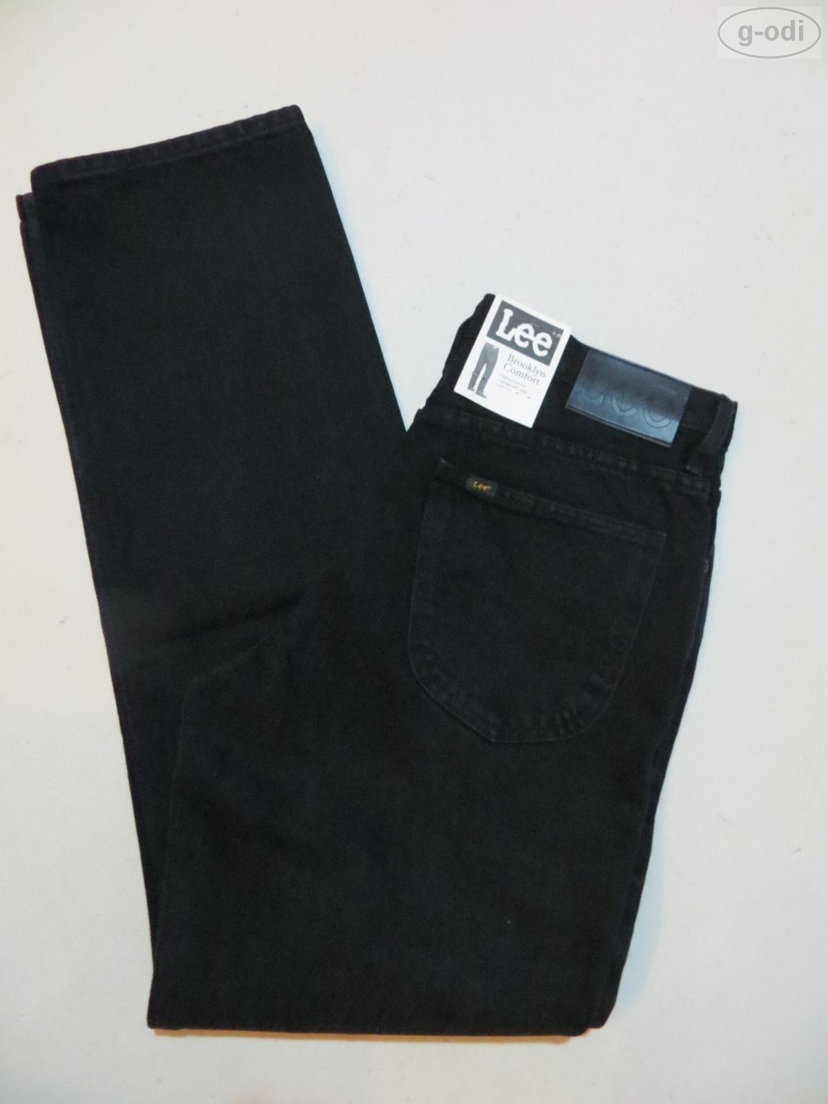 Lee  BROOKLYN  Jeans Hose W 33  L 34 schwarz NEU   schwarz Denim Klassiker   48