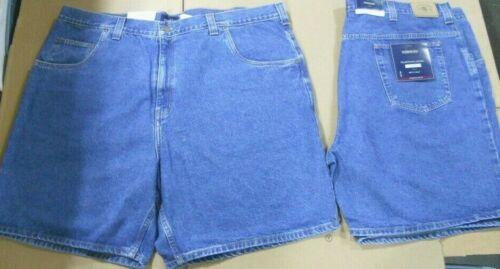 2 pairs New Mens HARBOR BAY Big Man LOOSE FIT Denim blue JEAN SHORTS Sz 48