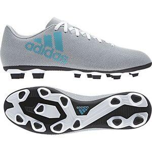 750beef1f Adidas Men's X 17.4 FxG Soccer Shoes White/Energy Blue S82399 Sz 8 ...