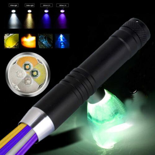 UV Flashlight Black Light Ultra Violet LED Lamp Pet Urine Stains Detector White