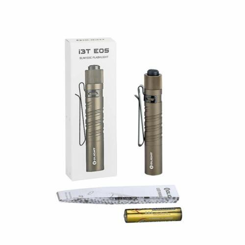 Olight i3T EOS 180 lm double sortie AAA DEL Lampe Interrupteur Arrière Desert Tan