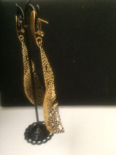 Sunbelle 18ct oro pendientes de lágrima Trenzada