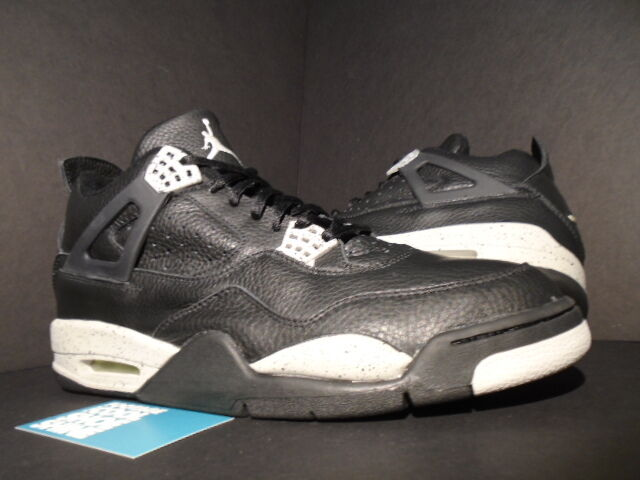 1999 Nike Air Jordan IV 4 Retro + LS OREO BLACK COOL GREY CEMENT 136030-001 12