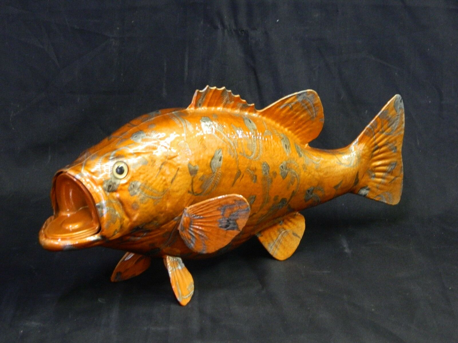 CLEARANCE 20  Bass Replica Hydrodipped orange Fish Bones  59.00 NICE GIFT
