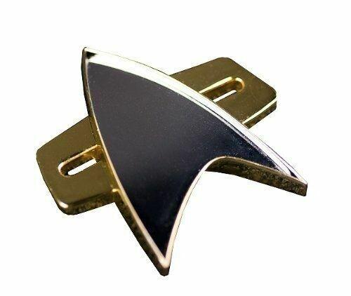 """Communicator 2/"""" Wearable Metallic Badge Prop Replica STAR TREK Voyager QMx"""