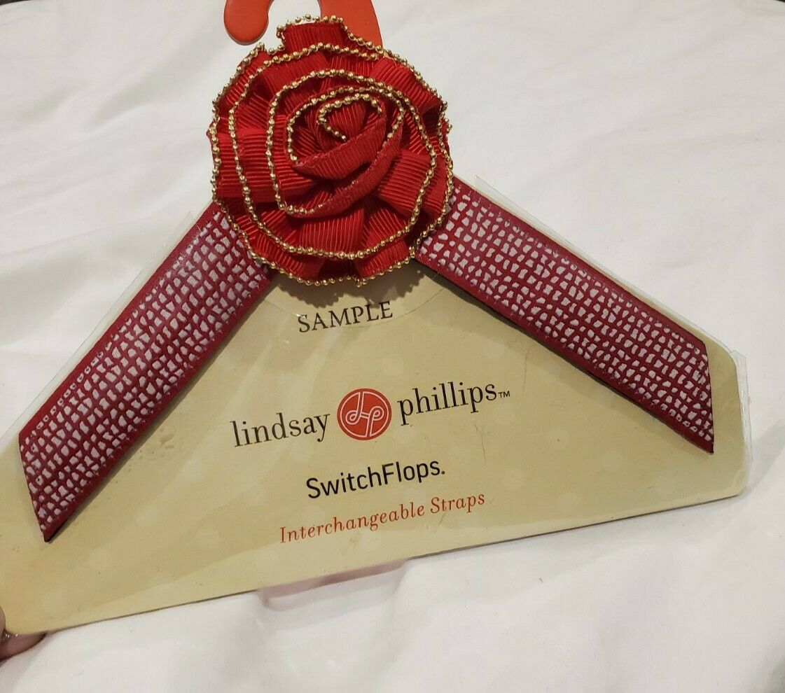 Lindsay Phillips Switchflops Straps Red Flower Size Small