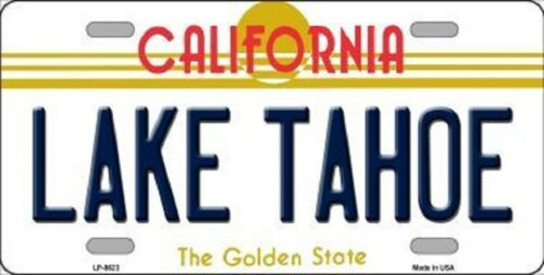 LAKE TAHOE California State Background Metal Novelty License Plate