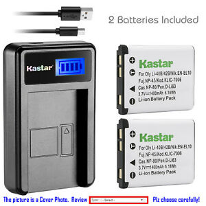 Kastar-NP-45-NP-45A-Battery-Charger-For-Fujifilm-FinePix-XP10-XP60-J10-J20-J100