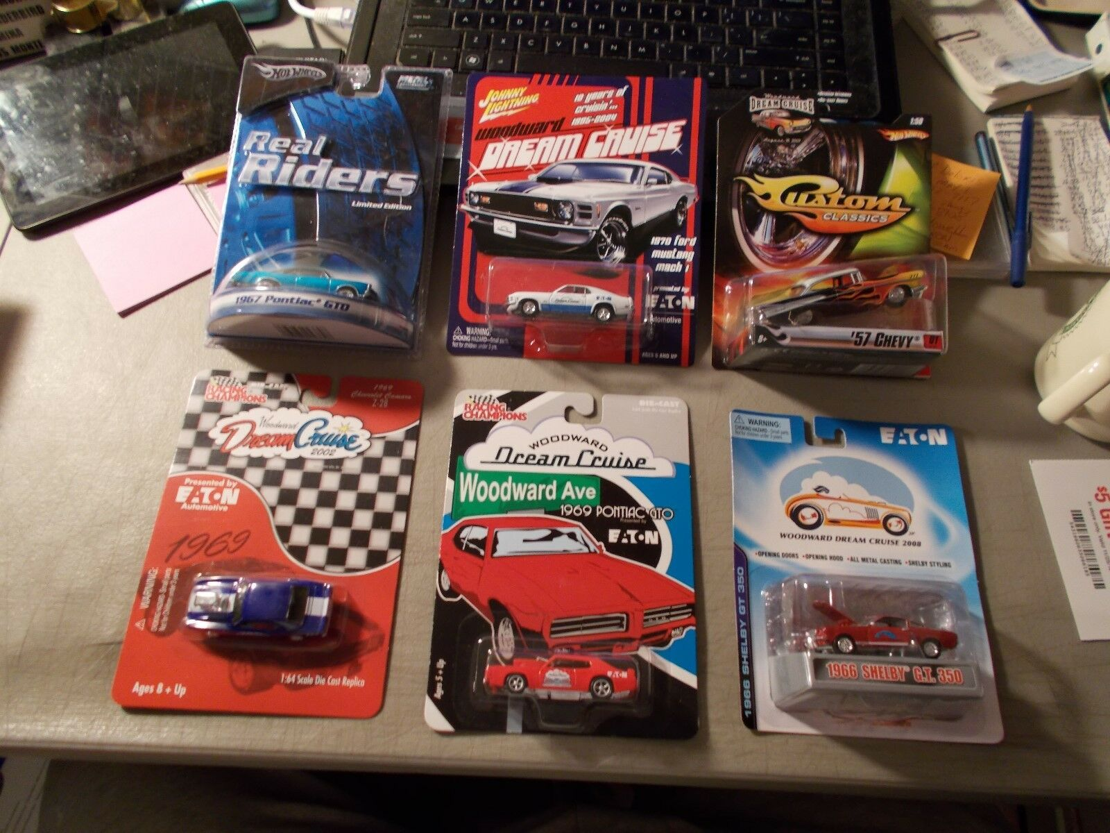 LOT OF 6 DIFFERENT WOODWARD DREAN CRUISE 1-HOT WHEELS 2-RACING CHAMPS 1-J.L. ++