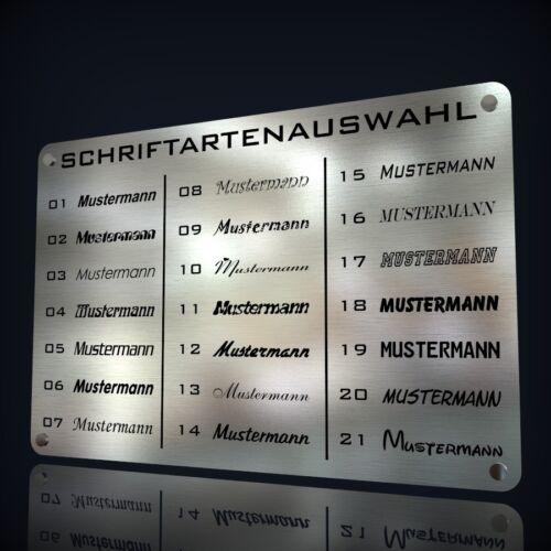 EDELSTAHL TÜRSCHILD NAMENSSCHILD KLINGELSCHILD MIT LASERGRAVUR NACH WUNSCH
