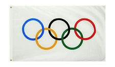 Olympic Games 3x5 Feet Flag Olympic Rings International Banner ... Free Shipping