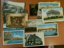 Lot of 50 Random Vintage US & Foreign Postcards Stamps Photos c1920's-50's