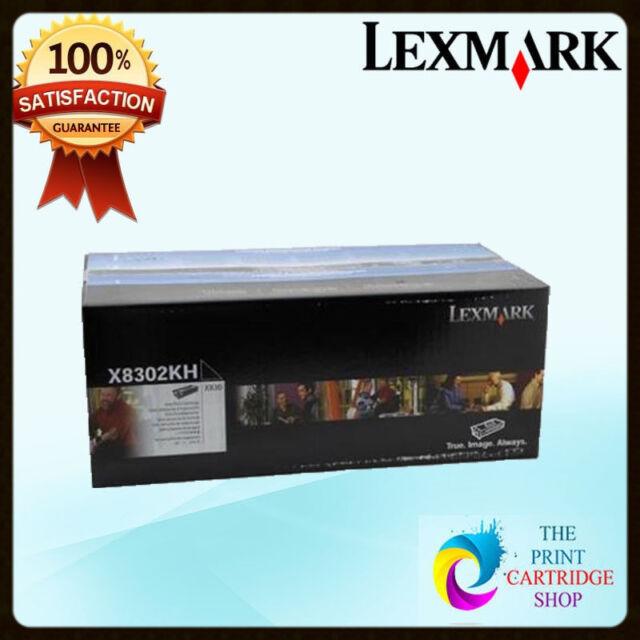 New & Genuine Lexmark X8302KH Black Toner Cartridge X830 X832