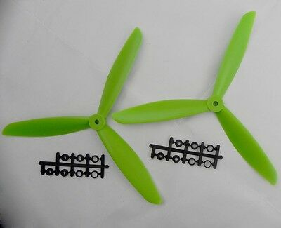 2pcs three 3 Blade Propeller 1045 10*4.5 CW CCW green Quadcopter Multicopte F