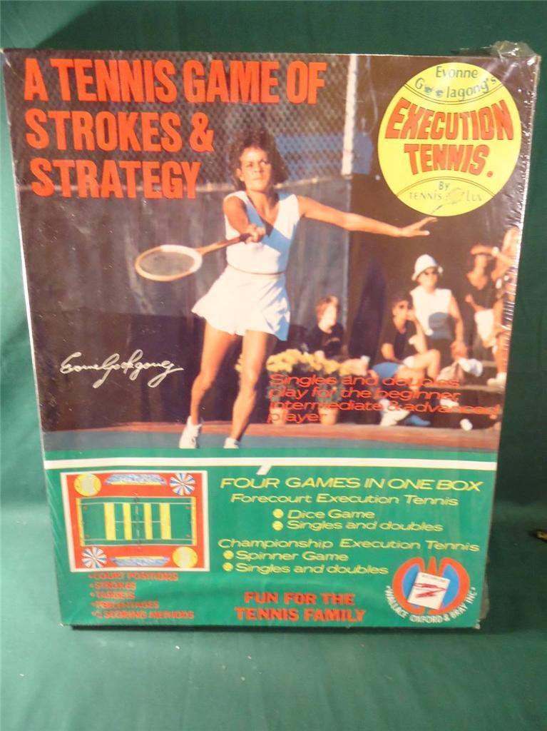 1973 Raro Ping Pong Juego de trazos & Estrategia Evonne goolagong la ejecución de 4 Juegos