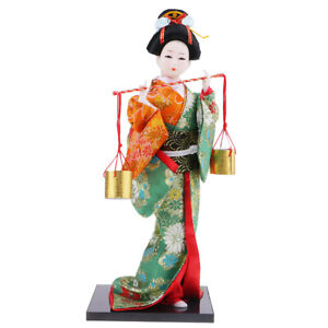Exquisite Japanese Kimono Doll Kabuki Statue Geisha Figurine Home Decor #7